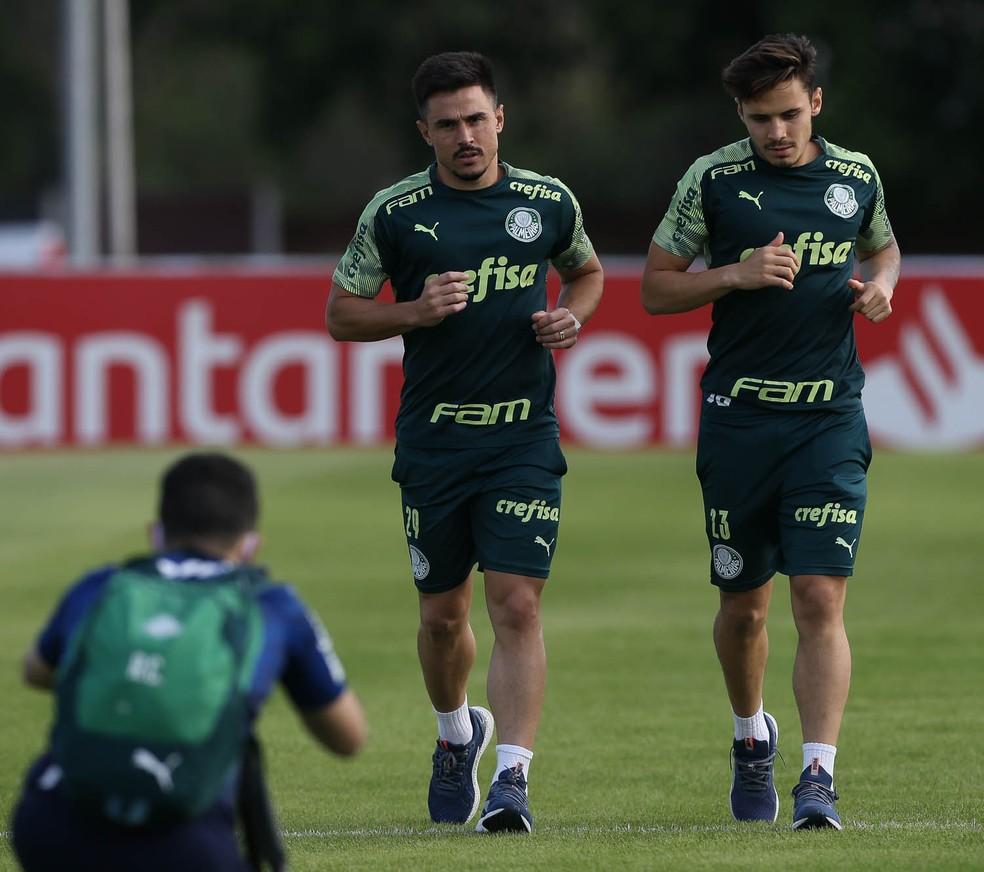Willian e Raphael Veiga, do Palmeiras, est?o entre os que testaram positivo ? Foto: Cesar Greco / Ag. Palmeiras