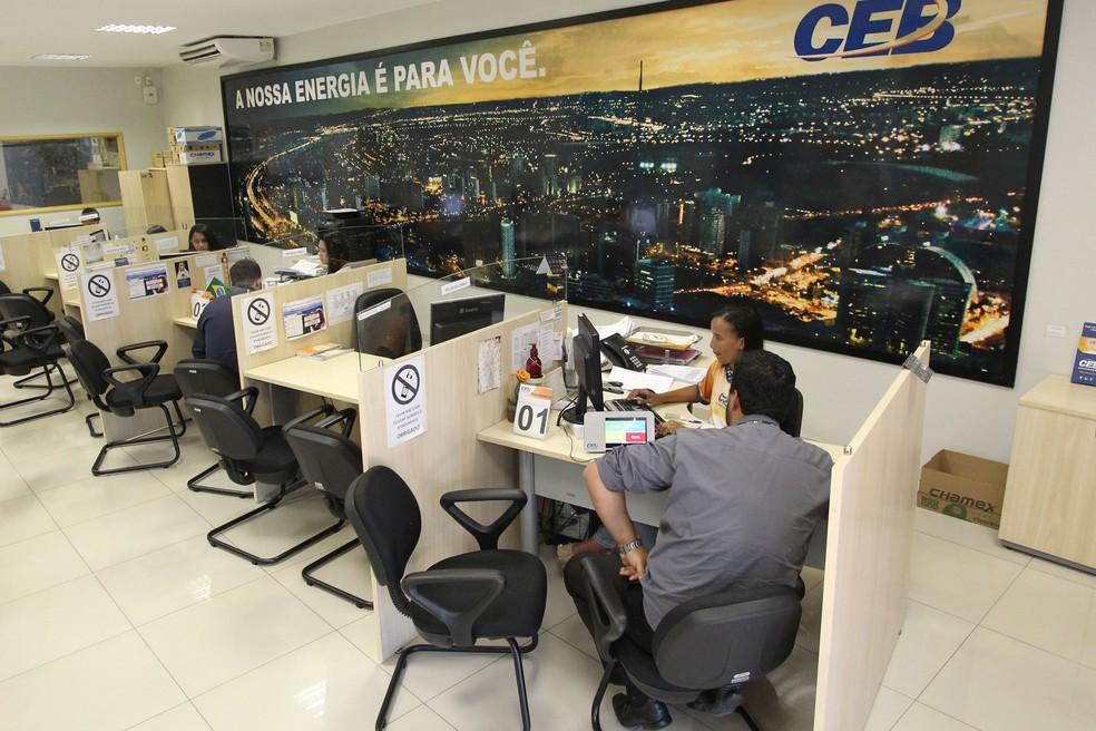 Atendimento CEB — Foto: Toninho Tavares/Agência Brasília