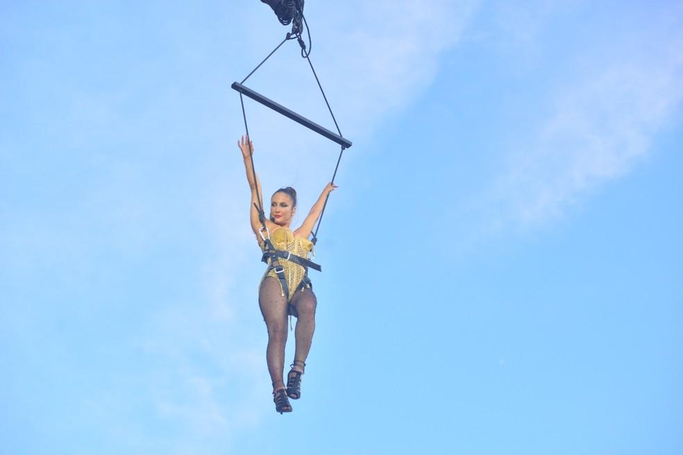 Claudia Leitte içada no segundo dia de carnaval em Salvador — Foto: Joilson César/Ag Haack