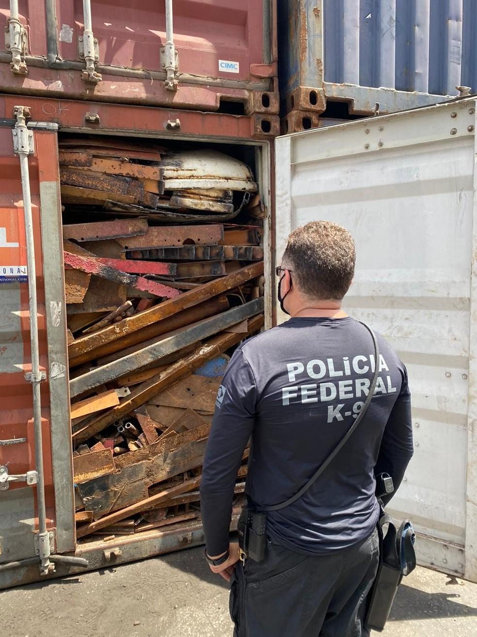 Policiais Federais e outros agentes realizaram ações no porto, no aeroporto de Natal e em rodovias federais da região metropolitana. — Foto: PF/Divulgação