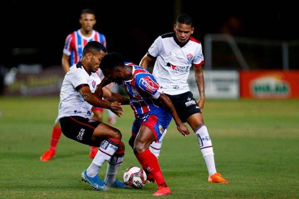 Bahia x Vitória em Pituaçu, pelo Campeonato Baiano — Foto: Felipe Oliveira/EC Bahia