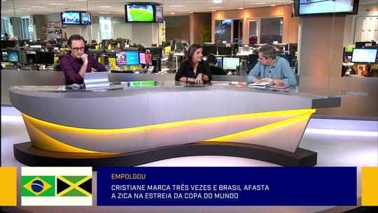 """Redação SporTV exalta vitória da seleção feminina, mas jornalista afirma: """"Falta coletividade"""""""