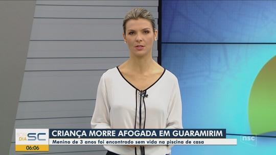 Menino de 3 anos morre após afogamento em piscina na casa da avó em Guaramirim