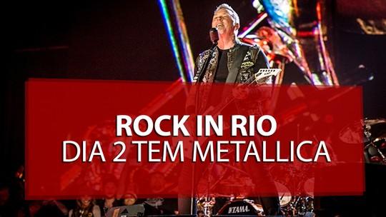 Metallica e Mötley Crüe levam metal ao segundo dia de Rock in Rio 2015