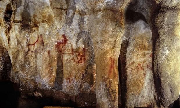 Pintura rupestre dos neandertais encontrada na Espanha (Foto: Divulgação)