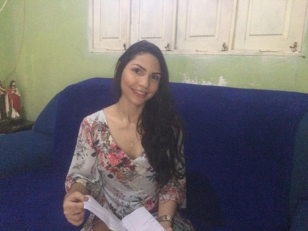 Estudante Rylla Melo, de Ipanguaçu, conseguiu nota 1000 no Enem 2018 — Foto: Hugo Andrade/Inter TV Costa Branca