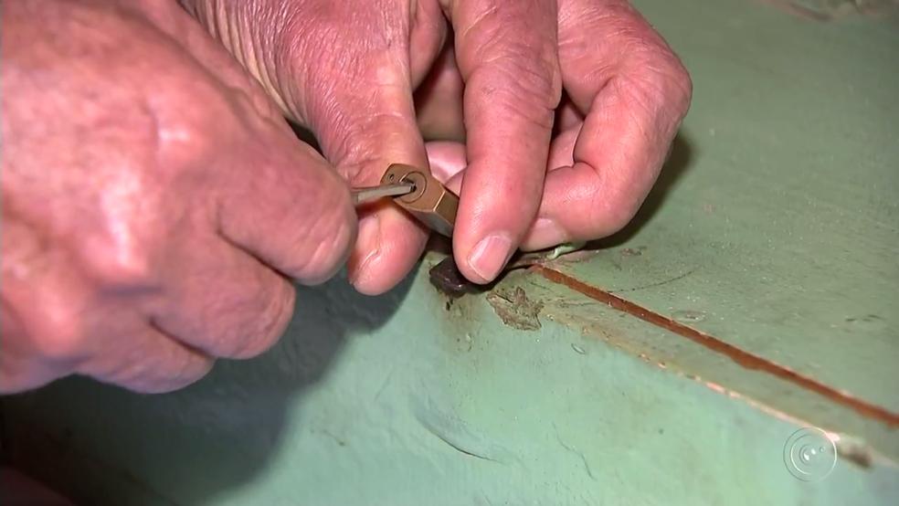 Idoso guardava quantia dentro de uma caixa em casa (Foto: Reprodução/TV TEM)