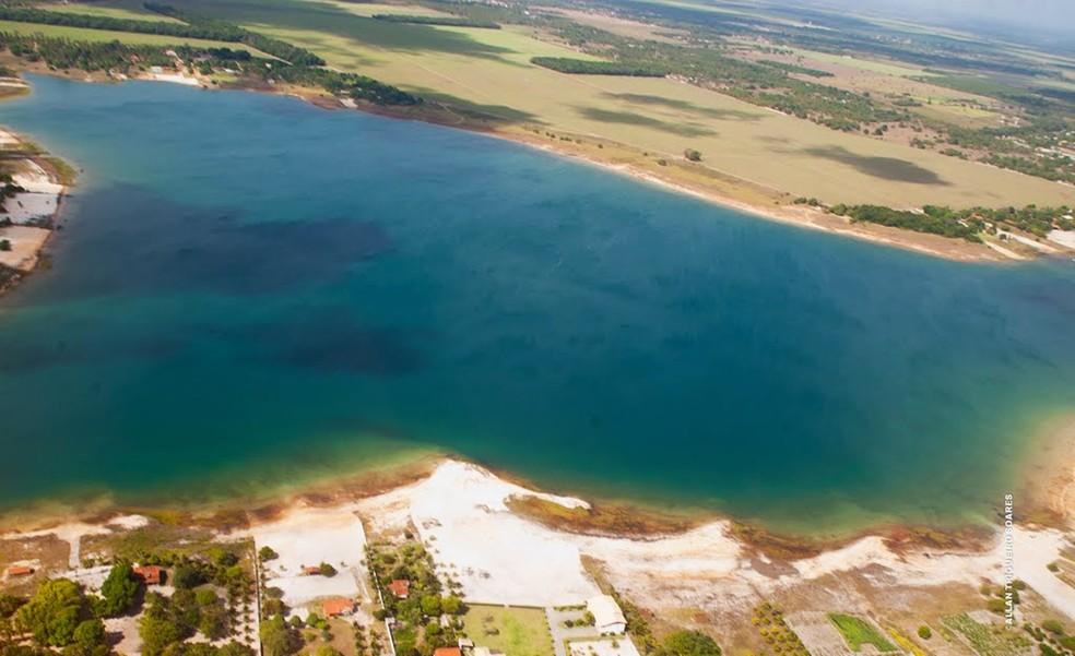 Lagoa do Bonfim fica na Grande Natal e é a nova morada da família venezuelana — Foto: Allan Trigueiro Soares