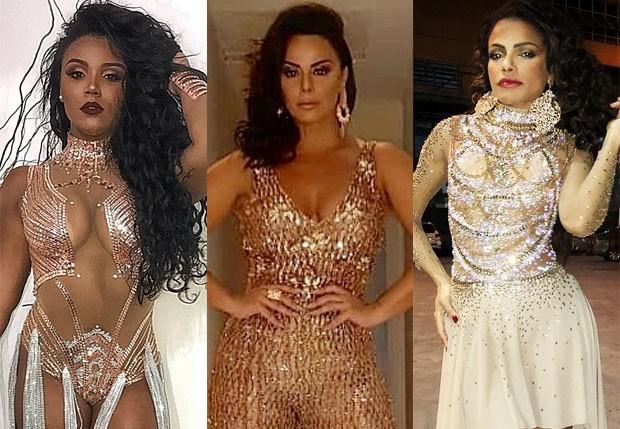 Evelyn Bastos, Viviane Araújo e Quitéria Chagas (Foto: Reprodução/Instagram)