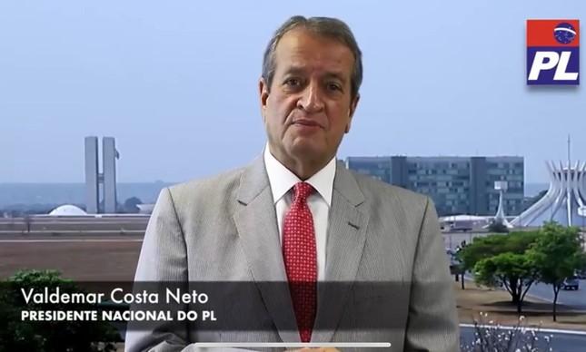 """Presidente Nacional do PL, Valdemar Costa Neto ressaltou alinhamento """"de centro"""" do seu partido"""