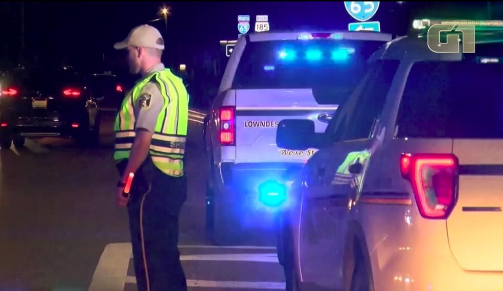 Acidente de trânsito envolvendo 18 carros deixa mortos no Alabama, EUA — Foto: Reprodução/Reuters