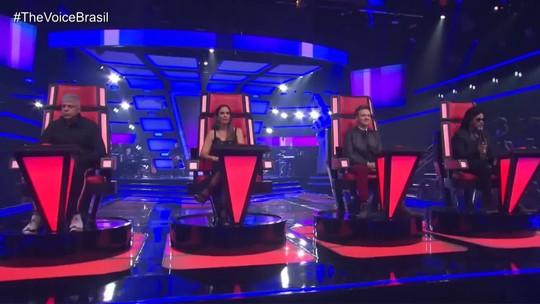 Lulu Santos se emociona em quinta noite de Audições às Cegas do The Voice Brasil