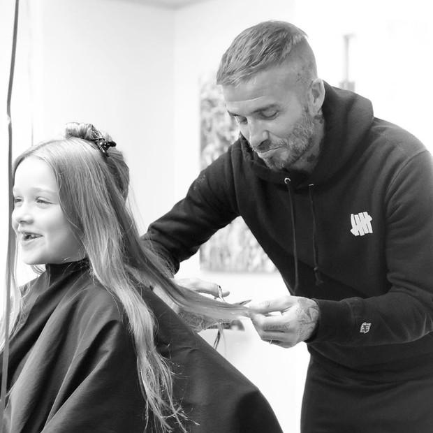 Dadid Beckham e Harper (Foto: Reprodução/Instagram)