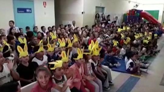 Crianças do Alto Tietê ganham doces e ovos de chocolate em ação solidária de Páscoa