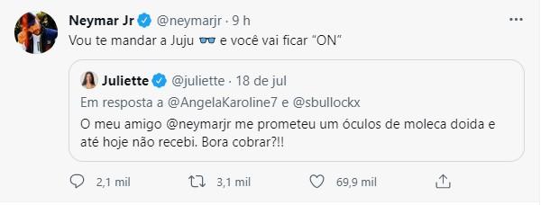 Juliette e Neymar (Foto: Reprodução/Instagram)