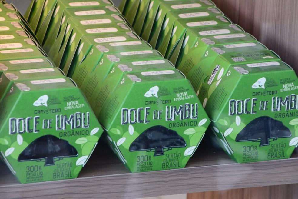 Doce de umbu vendido atualmente pela Coopercuc — Foto: Divulgação/Coopercuc