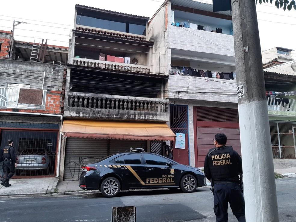 Polícia Federal cumpre mandados contra quadrilha investigada por ataque a bancos em Araçatuba (SP) — Foto: Polícia Federal/Divulgação