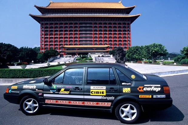 O Volkswagen Santana que rodou do Brasil à China (Foto:  Autoesporte)