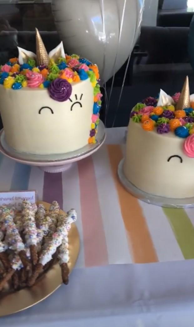 Detalhe da mesa de doces da festinha de North West (Foto: Reprodução / Instagram)