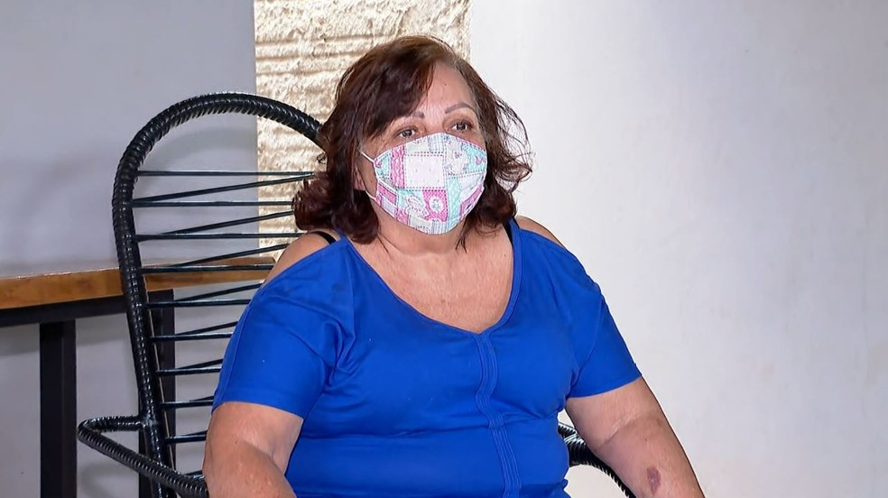 Moradora de Jeriquara, SP, dona de casa Sueli Munhoz ficou internada na UTI — Foto: Jefferson Severiano Neves/EPTV