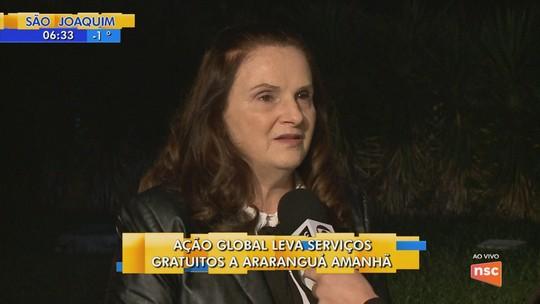 Ação Global oferece serviços gratuitos em Araranguá neste sábado