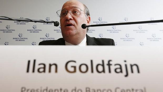 Ilan Goldfajn, presidente do BC, fala com a imprensa (Foto: Beto Nociti/BCB)