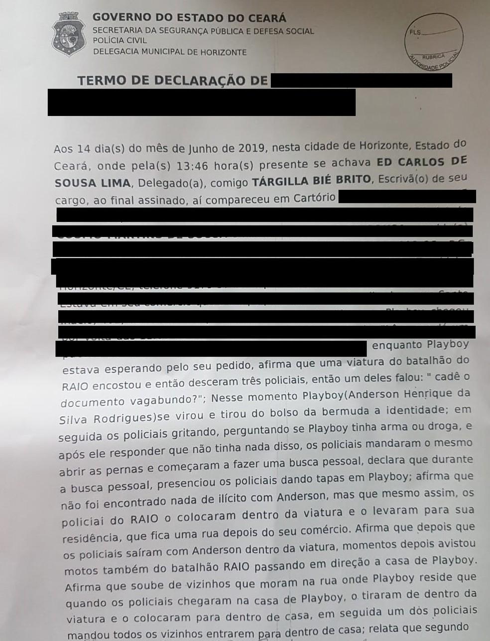 Anderson Henrique da Silva Rodrigues está desaparecido desde 11 de junho, após abordagem policial — Foto: Reprodução