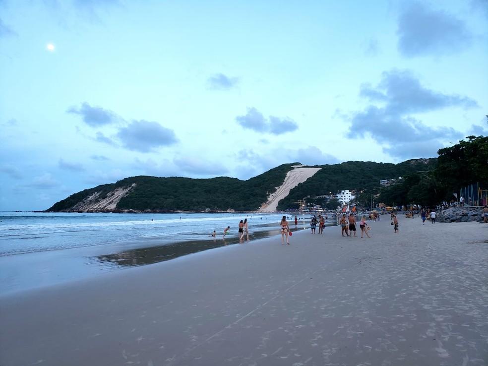 Praia de Ponta Negra em Natal — Foto: Bruno Vital/G1