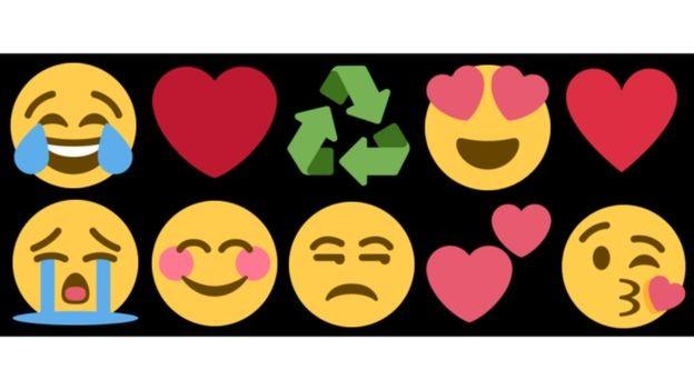 Carinhas que expressam emoções e o coração são alguns dos emojis mais populares (Foto: EMOJIPEDIA.ORG)