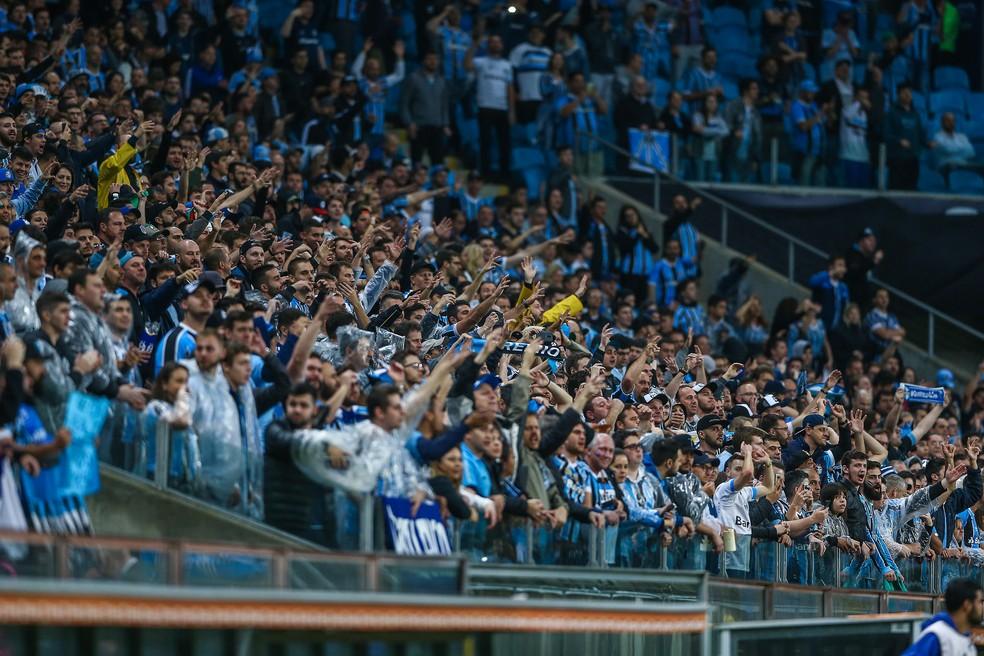 Grêmio conta com o apoio da torcida — Foto: Lucas Uebel / Grêmio, DVG