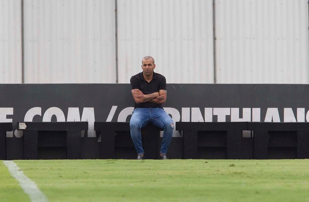Emerson Sheik, gerente de futebol do Corinthians — Foto: Daniel Augusto Jr/Ag.Corinthians