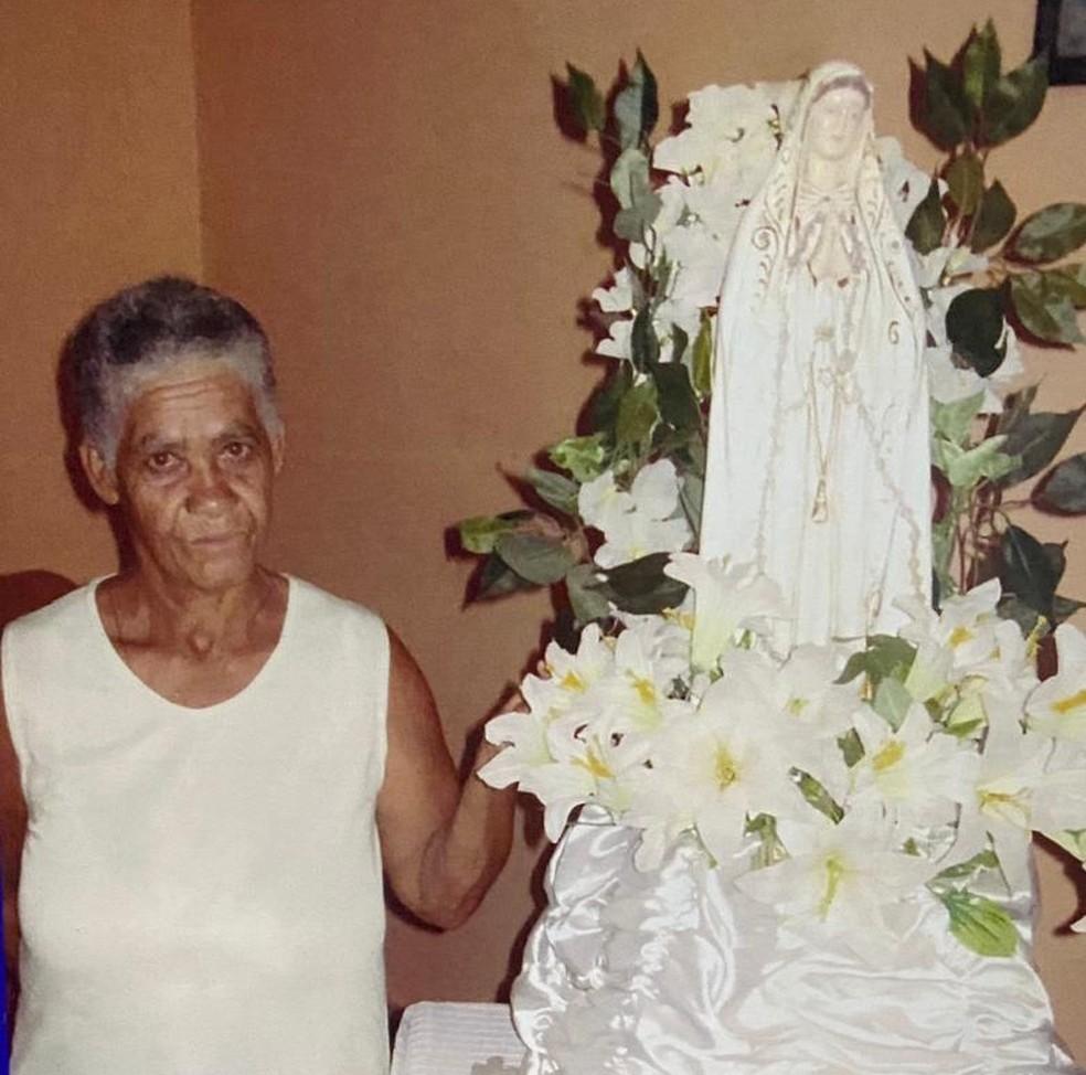 Maria Augusta, 72, chegou a pedir que o ex-genro encerrasse a agressão, mas ele não atendeu ao apelo da idosa — Foto: Arquivo pessoal