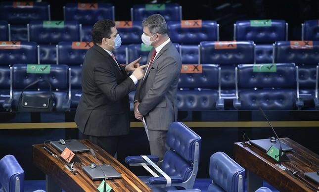 Davi Alcolumbre e Rogério Carvalho