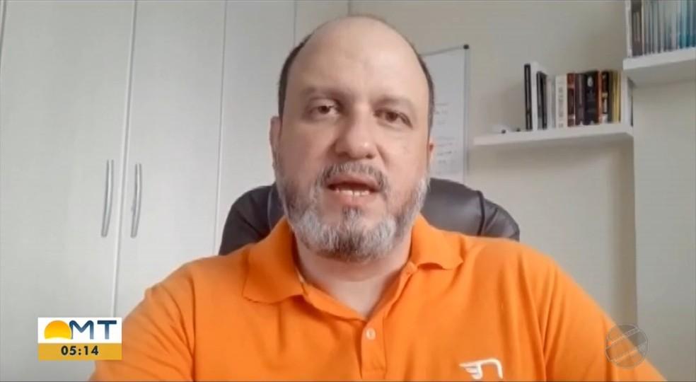 Partido Novo define em convenção Paulo Henrique Grando como candidato a prefeito de Cuiabá — Foto: TV Centro América/Reprodução