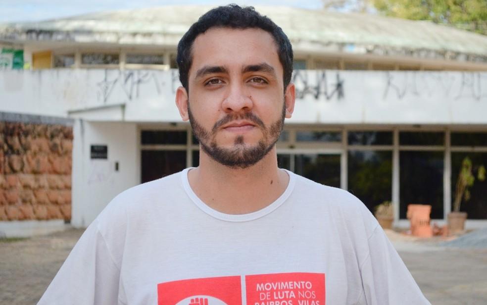 Estudante de economia Fábio Junior foi escolhido como candidato da Unidade Popular, em Goiás  — Foto: Fábio Junior/Arquivo Pessoal