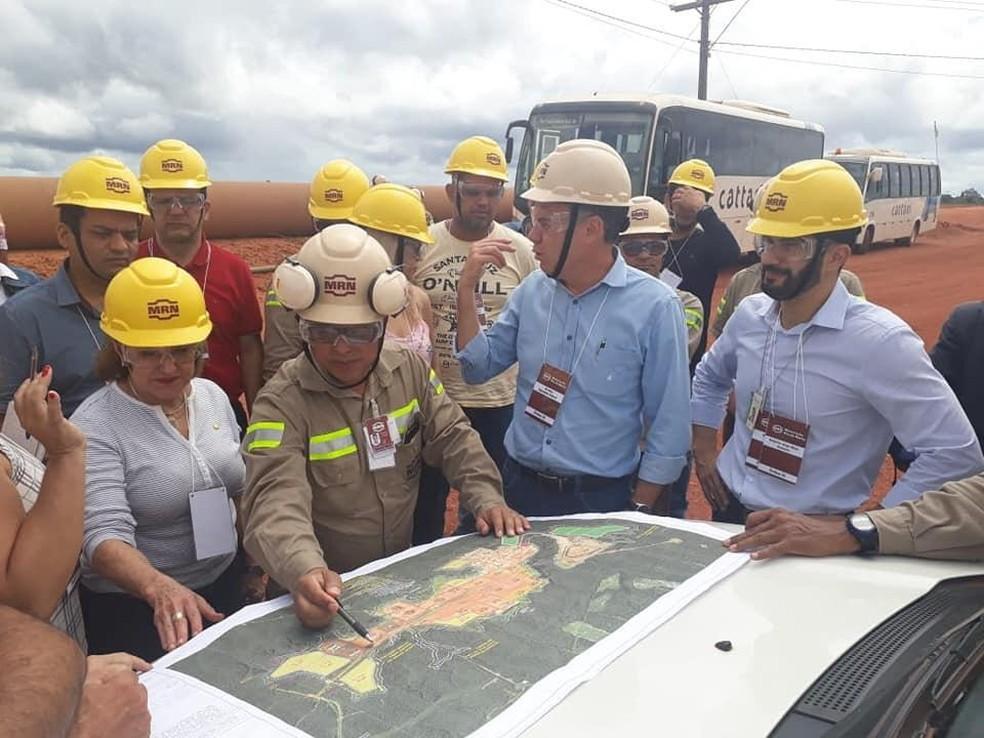 Visita às barragens da MRN, em Oriximiná, no Pará — Foto: Foto: Rafa Barros/ ssessoria Dep. Áurea Carolina
