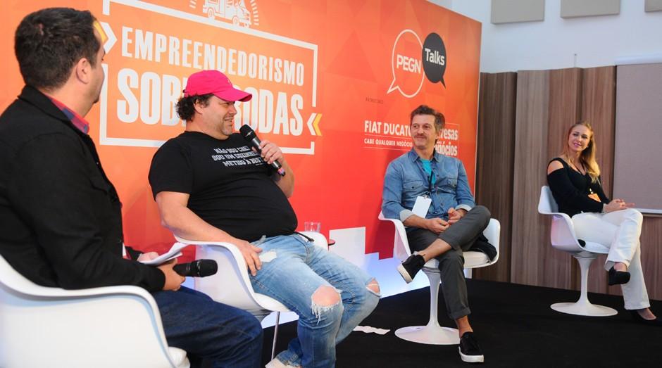 Fabiano Candido, Rolando Vanucci, André Fischer e Bruna Lopes, durante o PEGN Talks (Foto: Rafael Jota)