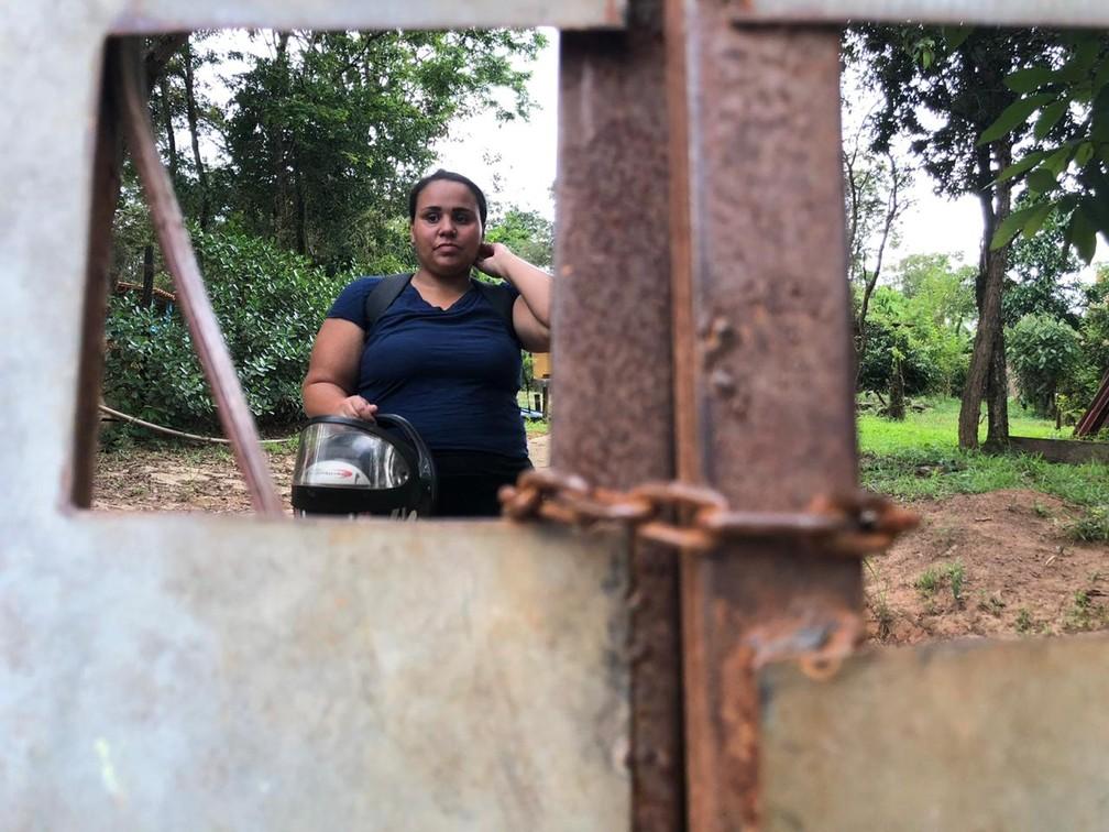 No Parque da Cachoeira moradores reclamam da perda da liberdade e da segurança — Foto: Raquel Freitas/G1