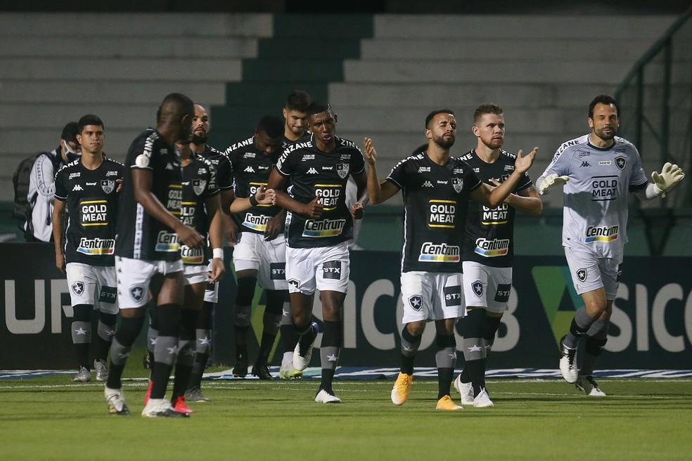 Marcelo, Kanu e Caio Alexandre são jogadores que o Botafogo pretende negociar e arrecadar algum dinheiro — Foto: Vitor Silva/Botafogo
