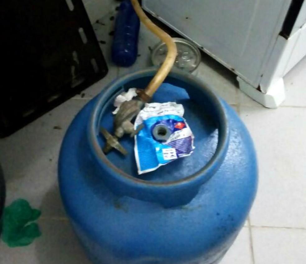 Vazamento de gás de botijão resultou em explosão  (Foto: Divulgação/SSP-BA)