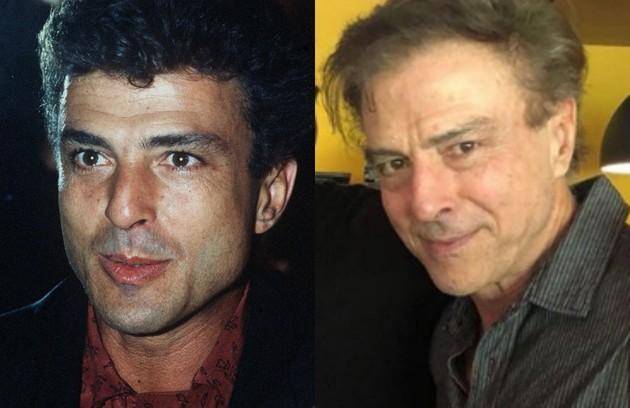 Carlos Alberto Riccelli foi César Ribeiro, homem sedutor que mantinha um caso com Odete Roitman (Beatriz Segall), por quem era sustentado. Atualmente, dirige a série 'A vida secreta dos casais', que terá uma segunda temporada na HBO (Foto: Irineu Barreto e reprodução)