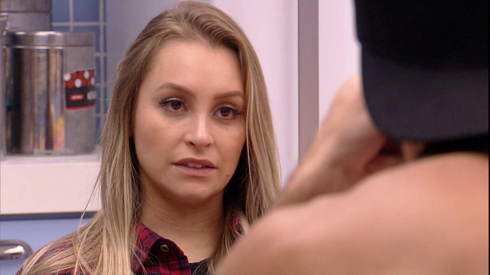 Carla Diaz avalia comportamento de Karol Conká: 'Eu acho uma hipocrisia isso' — Foto: Minuto a Minuto - BBB