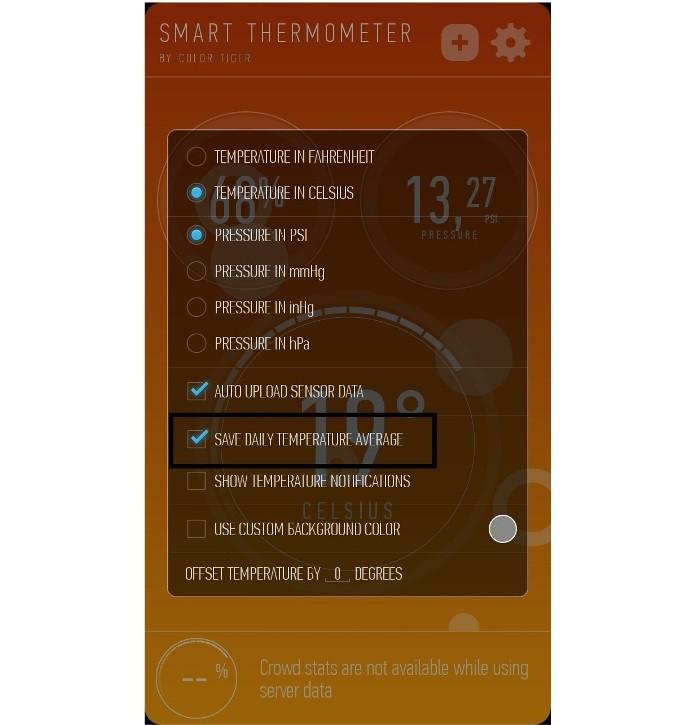 Salvando a média da temperatura diária no app (Foto: Reprodução/Lívia Dâmaso)