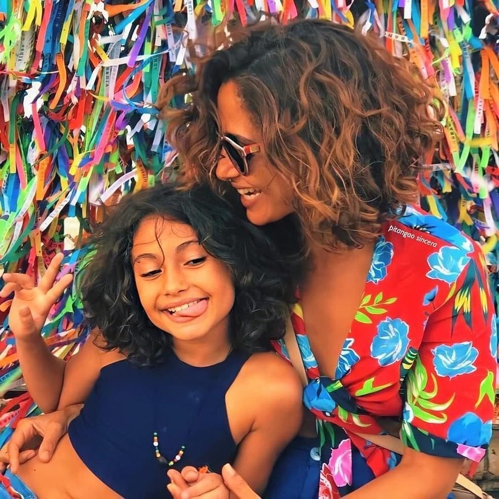 Camila Pitanga com a filha, Antônia, de 12 anos — Foto: Reprodução/Instagram