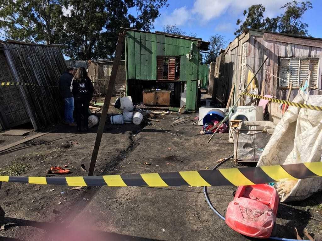 Bebê ferido durante incêndio em Pelotas tem melhora no estado de saúde