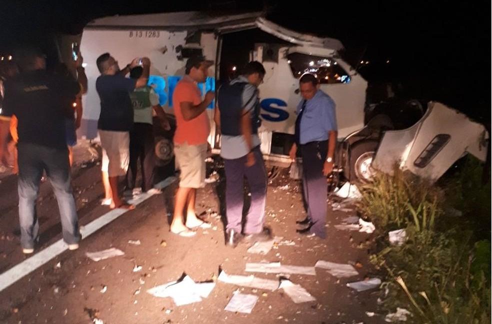 Bando explode carro-forte no interior do Ceará (Foto: Arquivo pessoal)