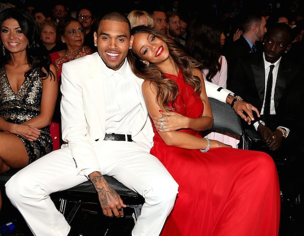 Chris Brown e Rihanna em foto de 2013 (Foto: Getty Images)