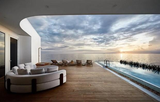 Hotel subaquático é inaugurado nas Ilhas Maldivas (Foto: Divulgação)
