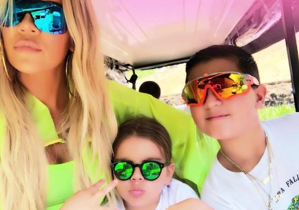 Khloe Kardashian, Mason e Penelope Disick (Foto: Instagram/Reprodução)