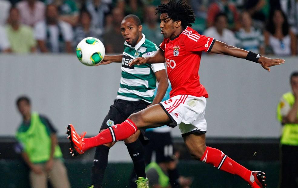 Cortez em ação pelo Benfica — Foto: Agência Reuters